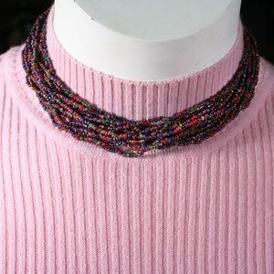 Jewelry - Vintage Multi-Strand Multicolored Choker/Necklace